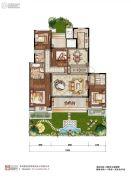 中粮祥云国际4室2厅2卫166平方米户型图