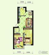 恩德花园2室2厅1卫80平方米户型图