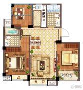 广宇・锦澜公寓3室2厅2卫88平方米户型图