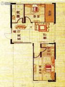 溪城丽景2室2厅1卫82平方米户型图