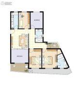 阳光100国际新城3室2厅2卫131平方米户型图