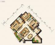 金龙星岛国际3室2厅2卫0平方米户型图