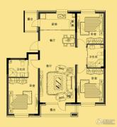 多恩海棠湾3室2厅2卫117平方米户型图
