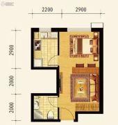 保利达大象公寓1室1厅1卫40平方米户型图