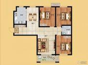 香榭丽都3室2厅1卫120平方米户型图
