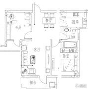 圣园2室2厅1卫74平方米户型图