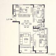 锦诚盛世3室2厅1卫123平方米户型图