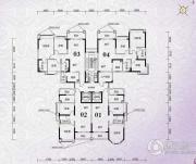 锦绣国际花城2室2厅1卫69平方米户型图