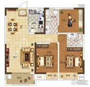 奥兰和园3室2厅2卫115平方米户型图