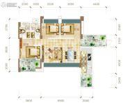 华联城3室2厅2卫116平方米户型图
