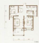 东方太阳城2室2厅1卫86平方米户型图
