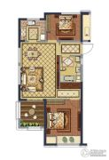 融创常州御园2室2厅1卫88平方米户型图