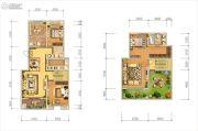 天朗大兴郡3室2厅2卫167平方米户型图
