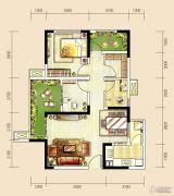 世茂城3室2厅1卫86平方米户型图