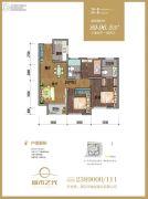 城市之光3室2厅2卫89--96平方米户型图