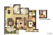 莱蒙水榭阳光2室2厅1卫87平方米户型图