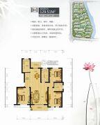 镜水蓝庭2期IN豪庭3室2厅2卫129平方米户型图