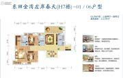 东田金湾3室2厅2卫112平方米户型图