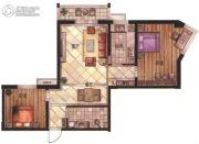 华富・瑞士名居2室2厅1卫107平方米户型图