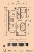 长阳光和作用第Ⅱ季2室2厅1卫87平方米户型图