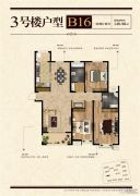 凤祥铭居3室2厅2卫146平方米户型图