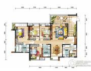 新鸿基悦城4室2厅2卫176平方米户型图