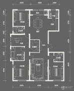中粮祥云国际生活区3室2厅2卫222平方米户型图