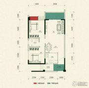 金雁帝景豪庭2室2厅1卫82平方米户型图