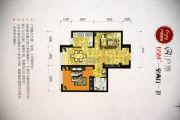 绿地・高科城1室2厅1卫65平方米户型图