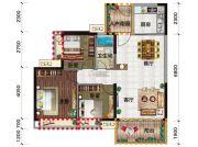 金穗・悦景台3室2厅1卫98平方米户型图