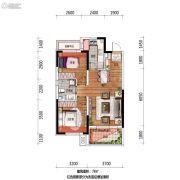 万科翡翠公园2室2厅1卫78平方米户型图