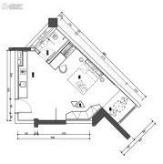 翰林尚品2室1厅1卫44平方米户型图