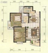 观山名筑2室2厅1卫85平方米户型图