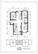 骏景豪庭3室2厅1卫0平方米户型图