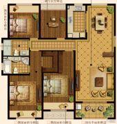 中建・大观天下3室2厅2卫131平方米户型图