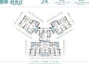 世荣碧水岸二期3室2厅2卫108--124平方米户型图