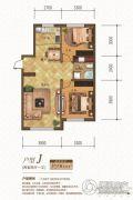 金汇豪庭2室2厅1卫96平方米户型图