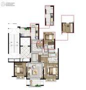中国铁建青秀澜湾3室2厅2卫122平方米户型图