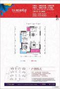 京华假日湾2室2厅1卫72--76平方米户型图