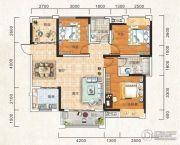 成邦・华夏公馆3室2厅2卫124平方米户型图