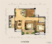 银海中心3室2厅1卫86平方米户型图