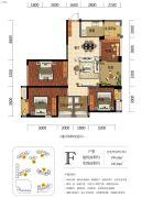 海赋长兴二期奥林阳光公园4室2厅2卫109平方米户型图