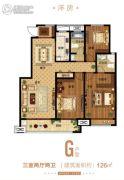 郑州孔雀城3室2厅2卫126平方米户型图