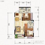 元琦林居2室2厅1卫0平方米户型图