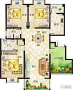 垠地中山城3室2厅2卫145--150平方米户型图