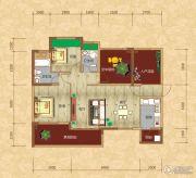 光瑞江都华宸2室2厅2卫100平方米户型图
