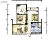 广厦名都2室2厅1卫81平方米户型图