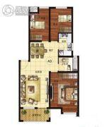 中润凤凰城2室2厅1卫78平方米户型图