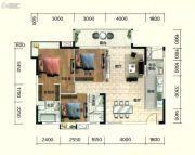 佛山富力广场3室2厅2卫115平方米户型图