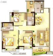 万科里享水韵3室2厅1卫90平方米户型图